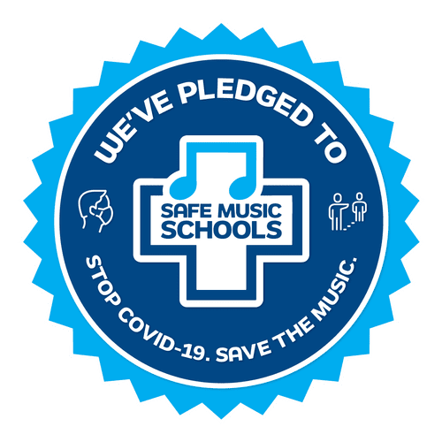 We are recognized as a 'Safe Music School' with a mission to help stop Covid-19.
