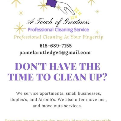 Avatar for A touch of greatness professional cleaning
