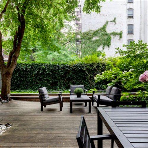 Zen Garden Outdoor Lounge Area