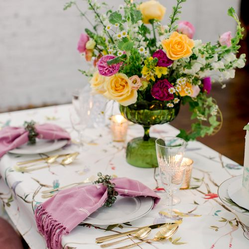 Tablescape and centerpiece