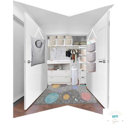Rendering of nursery niche - conversion of closet