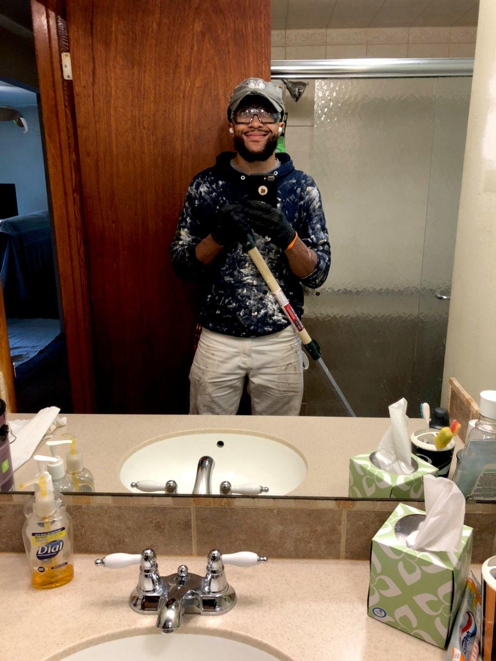Blue Hoodie Handyman