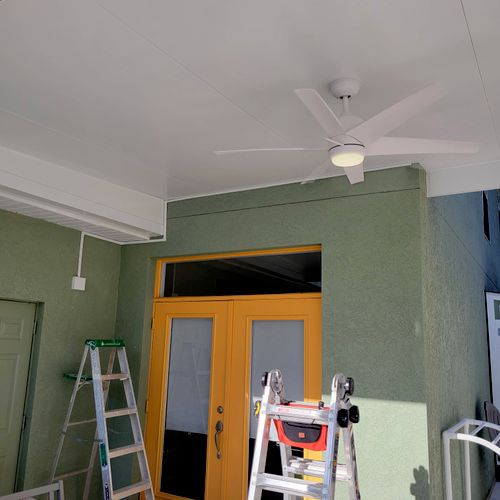 Wiring/Fan installation (insulated patio ceiling)