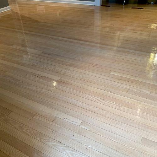 Refinishing of existing floors