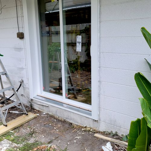after patio door installation