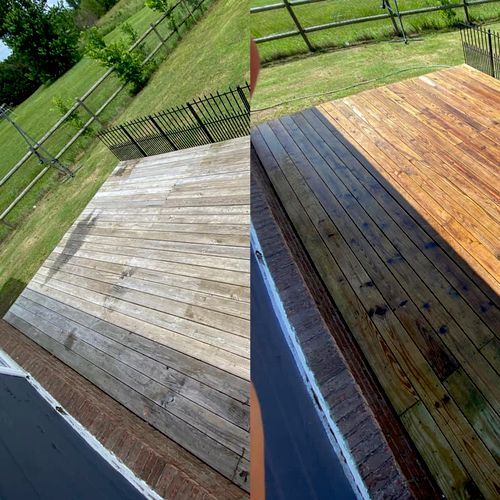 15 year old deck, fully restored without changing a single coard 1/5