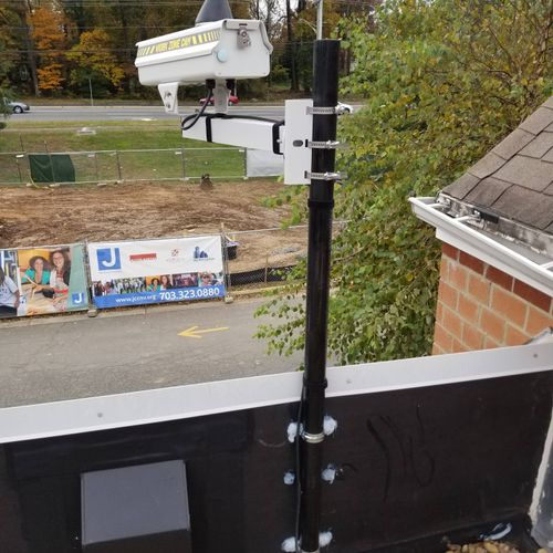 Construction Site Camera installation, Faifax Va