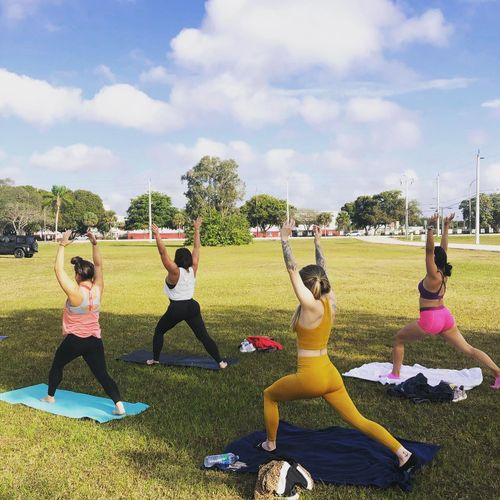 Workplace Yoga Class at LeadER Vet Clinic-Cooper City, FL