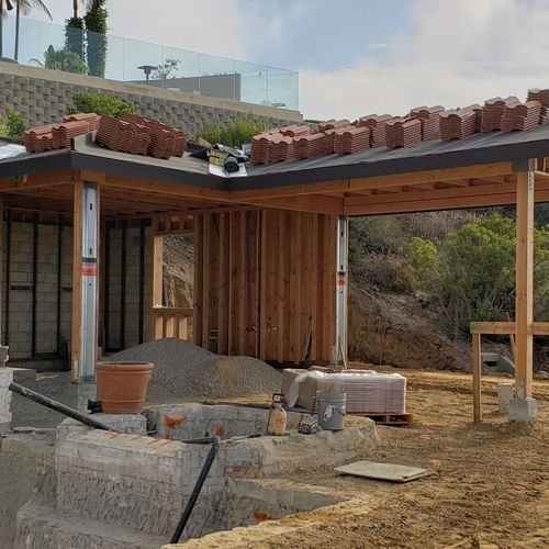 Pool and Casita with Outdoor Living