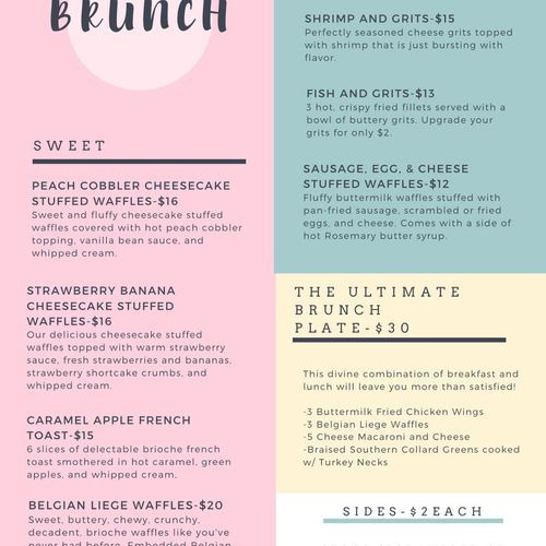 My specialty brunch items