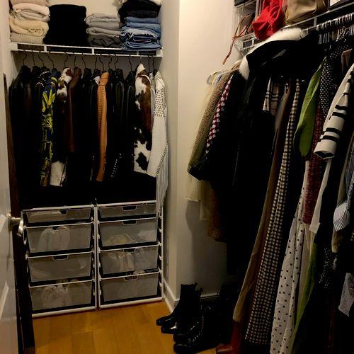 Bedroom closet: after