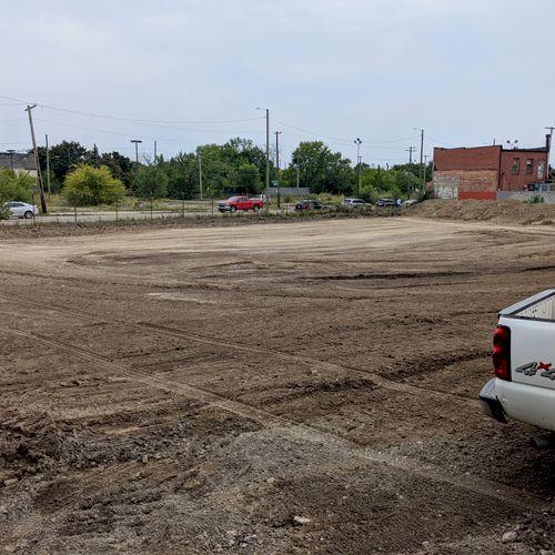 stone parking lot prep
