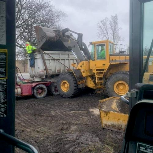 hauling soil