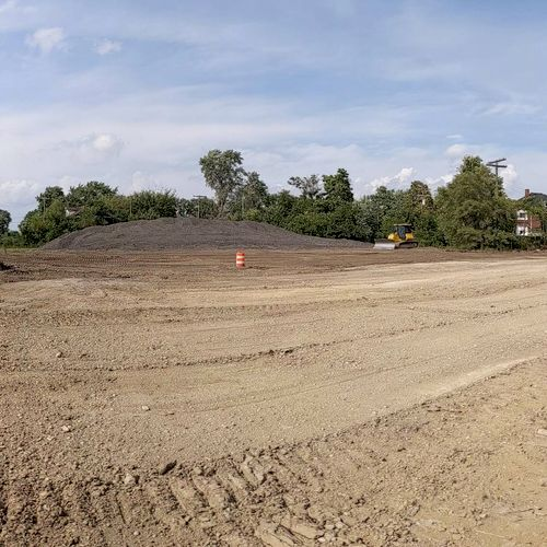 parking lot excavation and prep