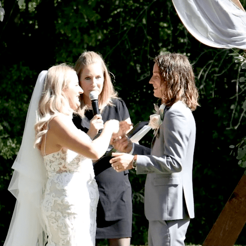 I had the honor of marrying my niece and her groom. It was the perfect day.