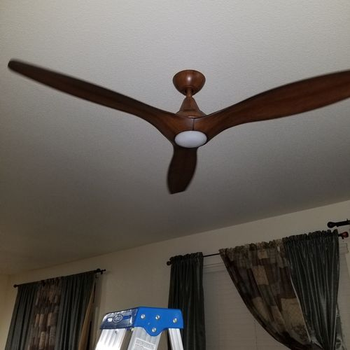 FAN/LIGHTING : Styles Electrical has a great eye for what enhances the beauty of your home. No job is too big or too small.