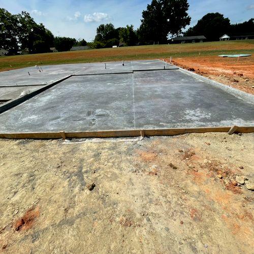 Monolithic Slab for new home
