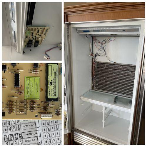 Sub-Zero 601F/S refrigerator. Control board replacement.