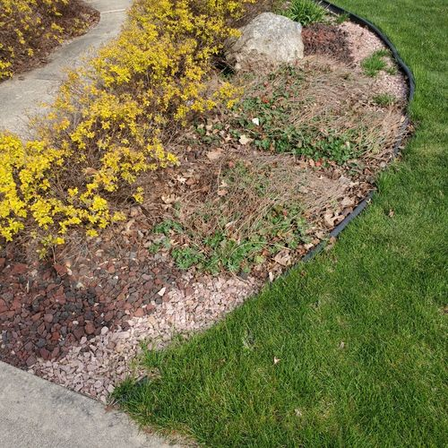 Rocks and yard waste removal