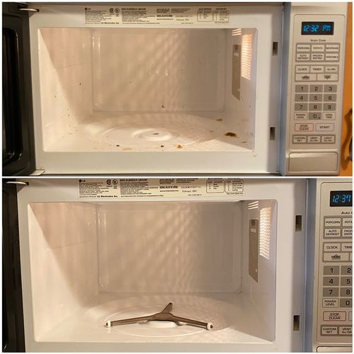 Before & after microwave cleaning 🧽