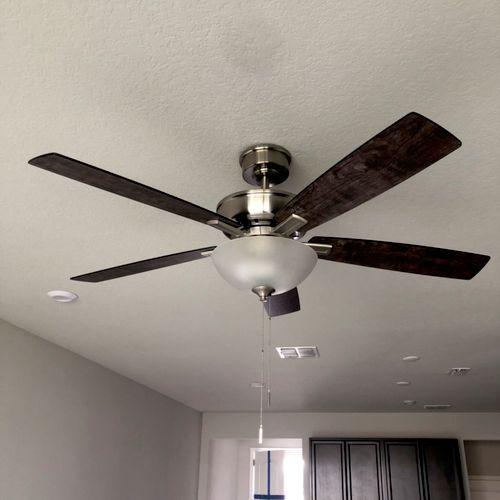 New fan installing