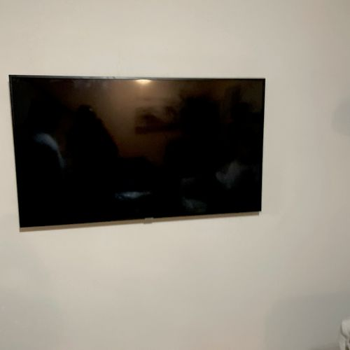 Tv mount with hiding cords in wall