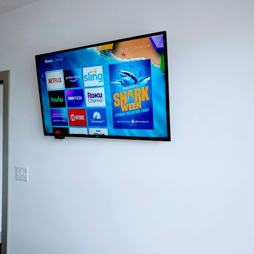 Tv Installation + New Outlet for TV 📺✅