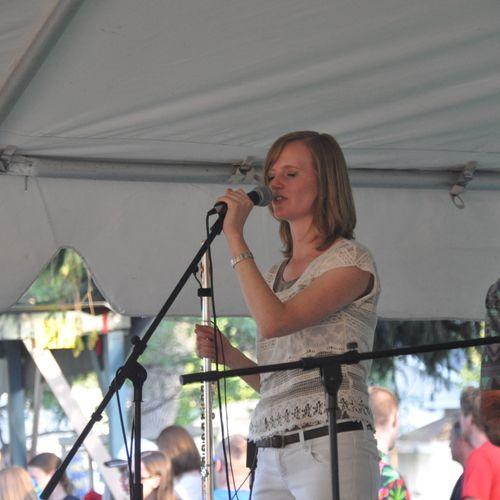 Singing with Verano Latin Jazz at Logan Summerfest