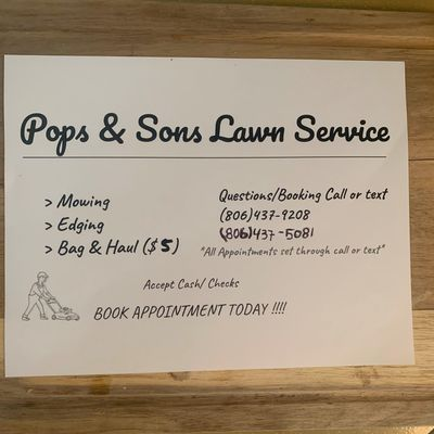 Avatar for Pops & Sons Lawn Service