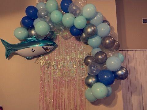 Custom Shark/ under the sea theme Balloon Garland