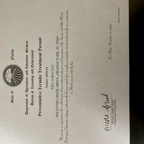 Termite Certification