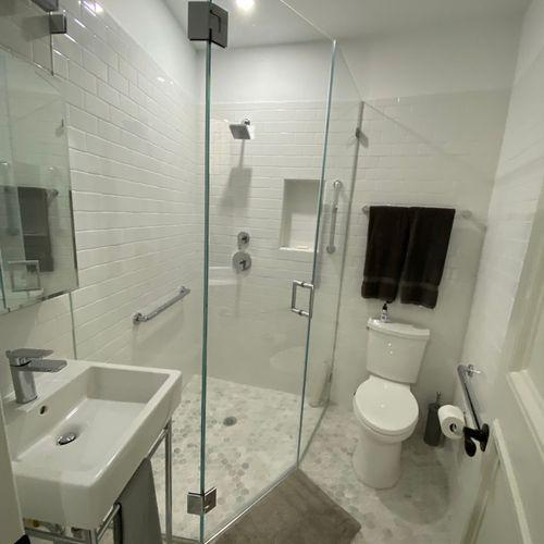 Bathroom sparkling clean