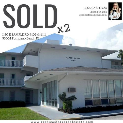 Two Condos Sold! Great Return on Investment in Pompano Beach!