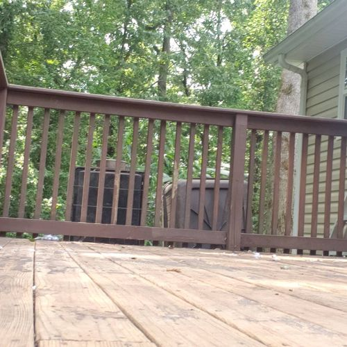 Deck Prep for Painting