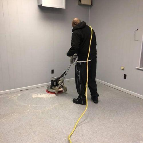 stripping  & Waxing floor
