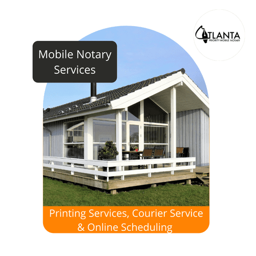 Mobile Notary Services, Courier Services, Printing Services