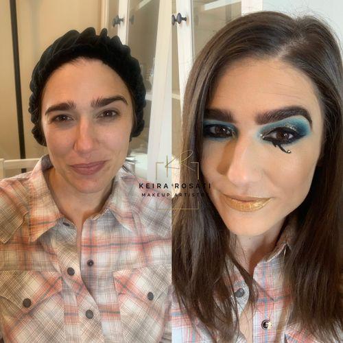 Makeup for Egyptian themed wedding