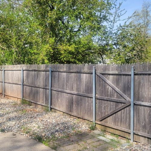 Fence removal & replacement - before