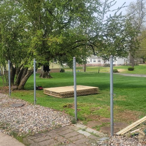 Fence removal & replacement
