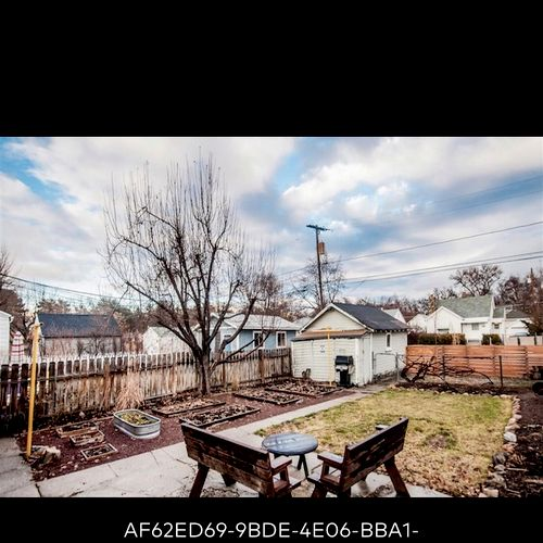 Before: this is a small backyard transformation we did in downtown salt lake.