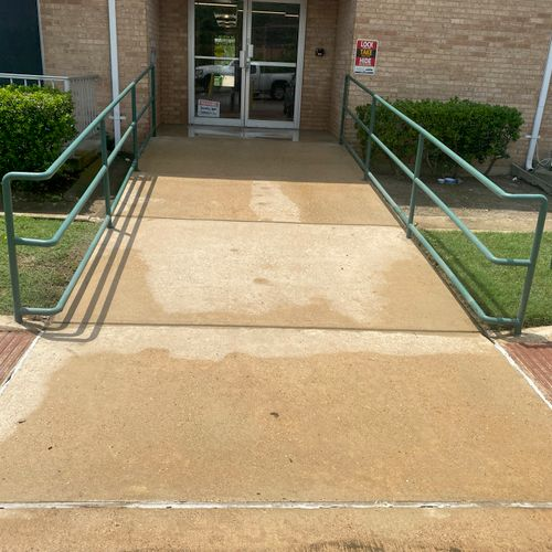 Walkway to an assisted living facility