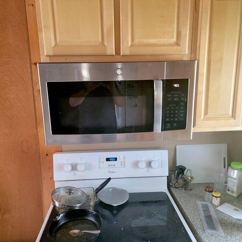 added a microwave for a custom.