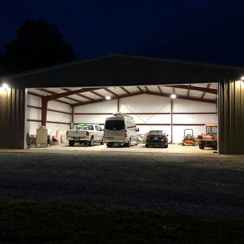 Adding an electrical service to metal building