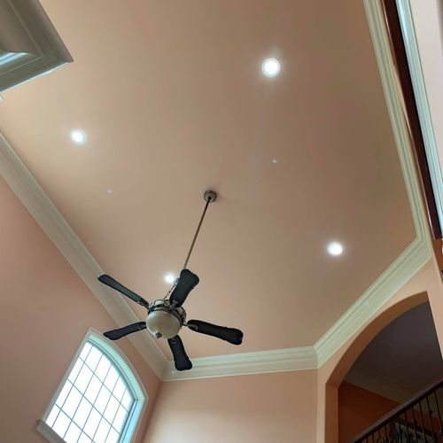 Fan and Recessed Lighting Installation