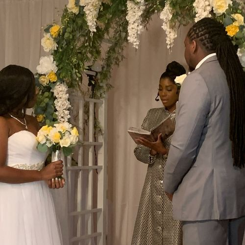 Wedding officiant moments…
