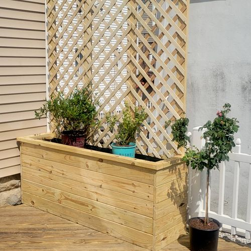 Custom made elevated vegetables box