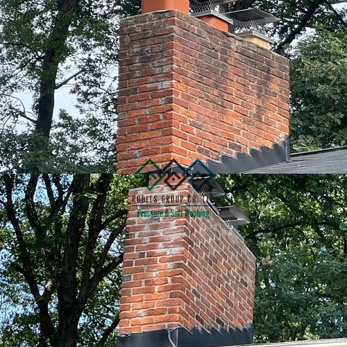 Does your chimney looks like the one on the photo above? Well dial our number and we can make it look like the photo below! ✨✨