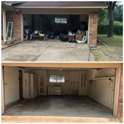 Single Car Garage Clean Out - Before and After