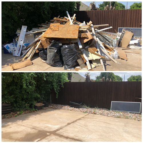 Construction Junk Removal - Before and After