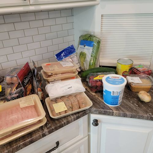 food prepping for client